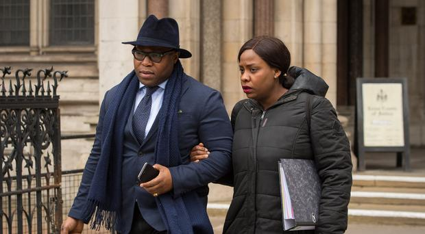 Isaiah Haastrup's father Lanre Haastrup and mother Takesha Thomas want doctors to keep treating their severely-disabled son until European judges have looked at the case (Dominic Lipinski/PA)