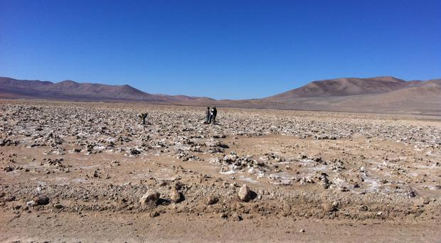 The hyper-arid core of the Atacama desert. If microbes can live here they could survive on Mars, scientists believe. (Dirk Schulze-Makuch/PA)