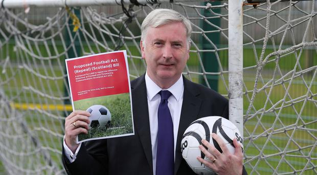 MSPs will vote on James Kelly's bid to scrap the Football Act (Andrew Milligan/PA)
