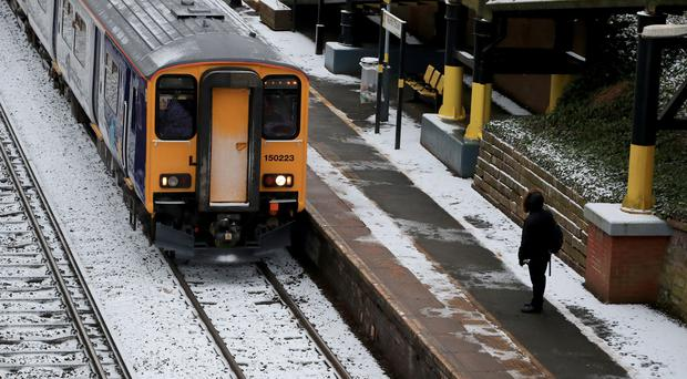 Rail services have been severely affected by the cold conditions (Peter Byrne/PA)