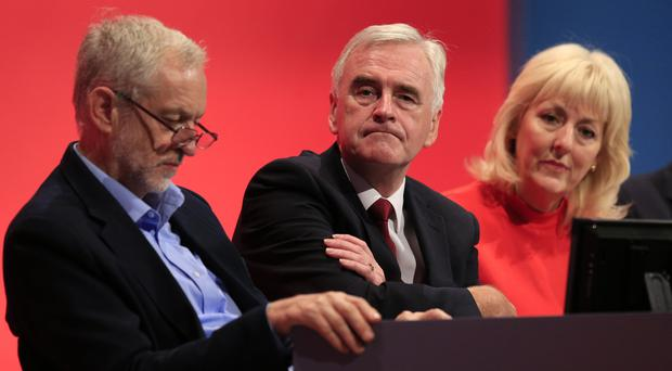 Jennie Formby, with Labour leaders