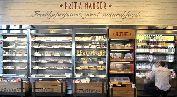 Pret A Manger is considering a plastic bottle deposit scheme (Nick Ansell/PA)