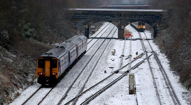 Train services were altered ahead of the forecast bad weather (Peter Byrne/PA)