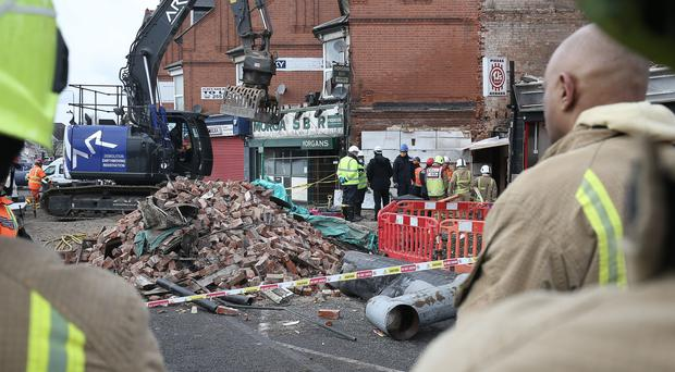 The scene of the explosion on Hinckley Road in Leicster (Aaron Chown/PA)