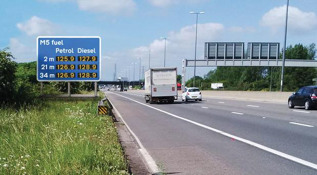 Comparative fuel price signs failed to lower costs (Highways England/PA)