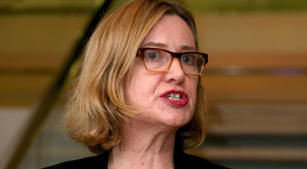 Home Secretary Amber Rudd announced the official threat level for Northern Ireland-related terrorism in Britain has been reduced (Chris Radburn/PA)