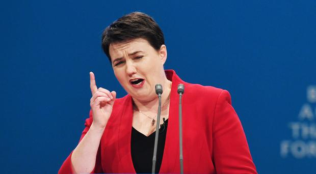 Scottish Conservative leader Ruth Davidson has announced the party's conference has been cancelled (Stefan Rousseau/PA)