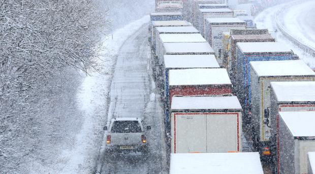 Nicola Sturgeon criticised transport companies for sending HGVs out during the extreme weather (Gareth Fuller/PA)