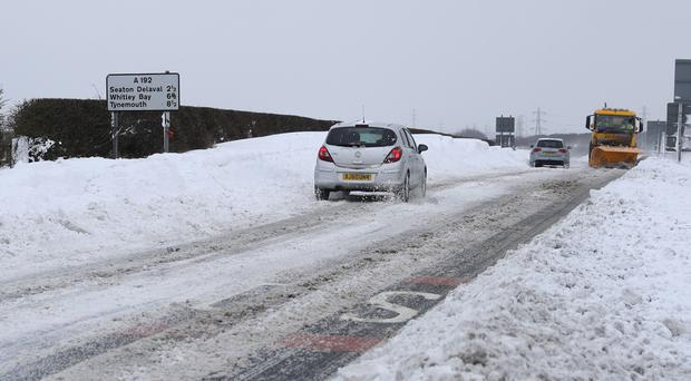 Workers forced to travel despite the snow