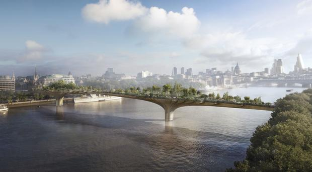 Boris Johnson has been questioned over the Garden Bridge scheme (Heatherwick Studio/PA)