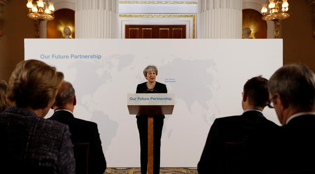 May rejects EU's draft option for Northern Ireland