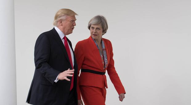 Theresa May and Donald Trump have clashed numerous times since she visited the White House following his inauguration (Stefan Rousseau/PA)