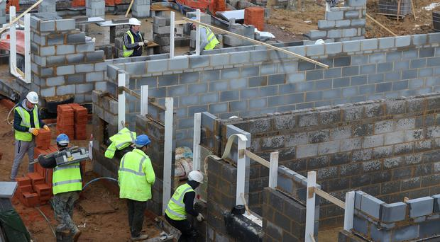 File photo dated 07/02/17 of houses under construction on a new housing development. (Andrew Matthews/PA)