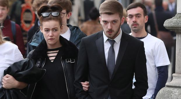 Tom Evans and Kate James, the parents of 21-month-old Alfie Evans, are waiting for appeal judges to rule on their life-support treatment fight. (Jonathan Brady/PA)