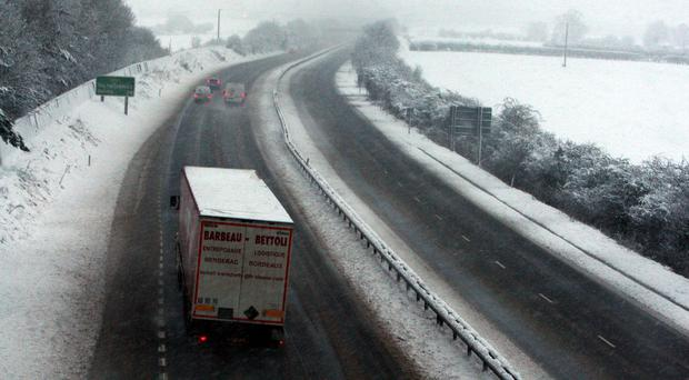 The A34 proved treacherous in the bad weather (Steve Parsons/PA
