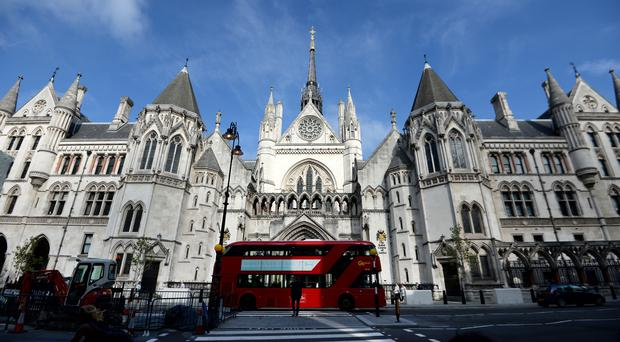 The Royal Courts of Justice in London (Andrew Matthews/PA)