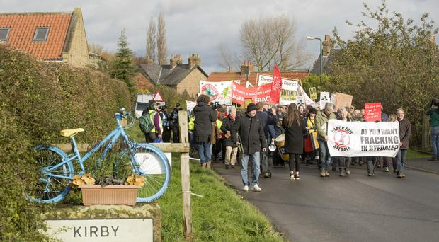 Fracking in England has been the subject of protests (Danny Lawson/PA)