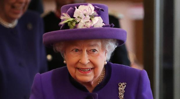 The Queen during a visit to the International Maritime Organisation (Daniel Leal-Olivas/PA)