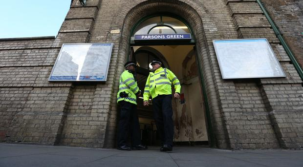 A man is in trial following the attack on Parsons Green station in 2017 (Jonathan Brady/PA)