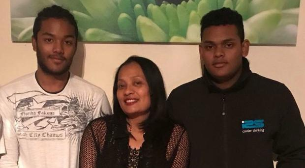 Mary Ragoobeer has been formally identified as being among the five people killed, including her sons Shane, 18, and Sean, 17 (Leicestershire Police/PA)