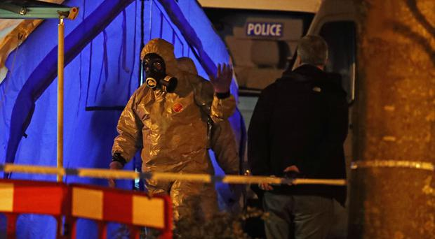 Russian double agent Sergei Skripal and his daughter were targeted specifically with a nerve agent, police said: (Steve Parsons/PA)