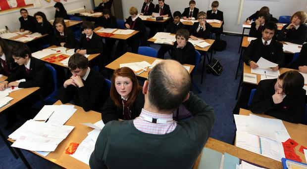 The majority of secondary schools have seen an increase in average class sizes, according to a new analysis (David Davies/PA)