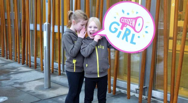 Brownies spread the word about Citizen Girl (Girlguiding Scotland/PA)
