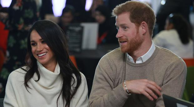 Prince Harry and Meghan Markle take part in an International Women's Day event at Millennium Point in Birmingham (Ian Vogler/Daily Mirror/PA)