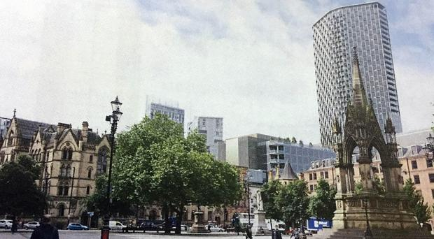 An artist's impression of the proposed skyscraper (PA)