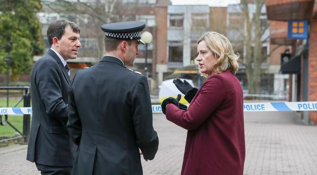 Home Secretary Amber Rudd has visited Salisbury following the nerve agent attack (Andrew Matthews/PA)
