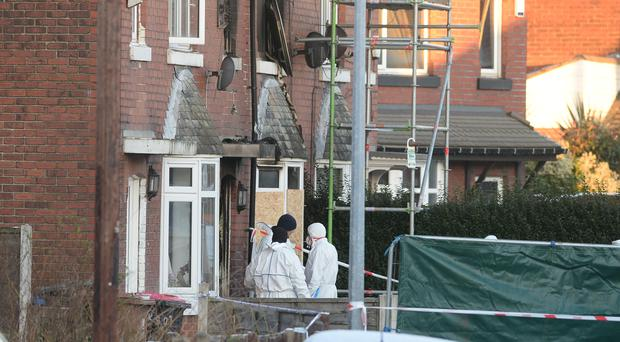 Three people have denied charges relating to a fire on Jackson Street in December (Peter Byrne/PA)