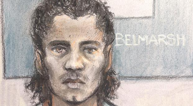 Ahmed Hassan denies charges over the Parsons Green bombing. (Elizabeth Cook/PA)