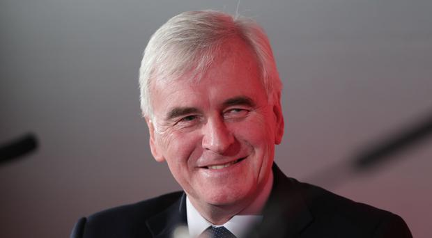 Shadow Chancellor John McDonnell has announced Scotland could get £70 billion over 10 years (Yui Mok/PA)