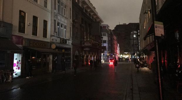 Soho in darkness (Ryan Hooper/PA)