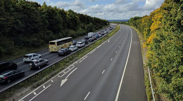 Nicholas Elger caused major disruption to the M3 (Jonathon Marks/Twitter/PA)