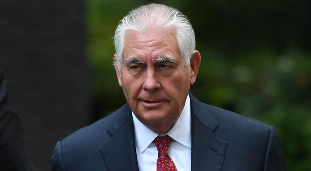 Former US Secretary of State Rex Tillerson on a visit to London (Stefan Rousseau/PA)