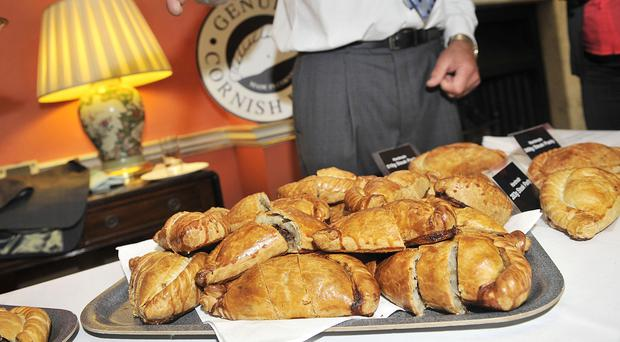 File picture of Cornish pasties in 10 Downing Street (Tim Ireland/PA)