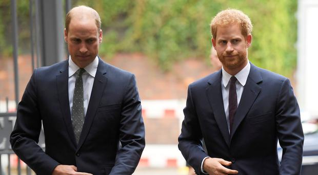 The Duke of Cambridge and Prince Harry have met award-winning police officers (Toby Melville/PA)