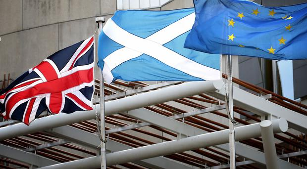 Less than a quarter of Scots want a second independence referendum in the next three years because of Brexit, a new poll suggests. (Jane Barlow/PA)