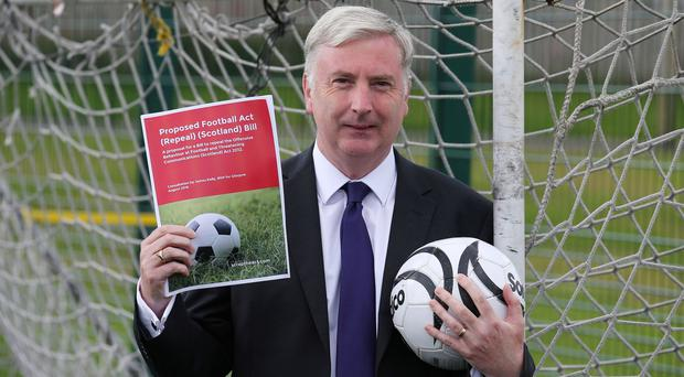 Scottish Labour MSP James Kelly's Bill will scrap legislation that outlawed offensive singing at football matches (Andrew Milligan/PA)