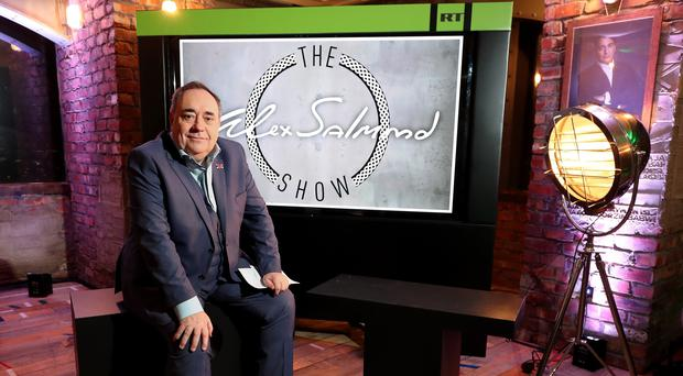 Alex Salmond during the launch of his RT chat show The Alex Salmond Show (Chris Radburn/PA)