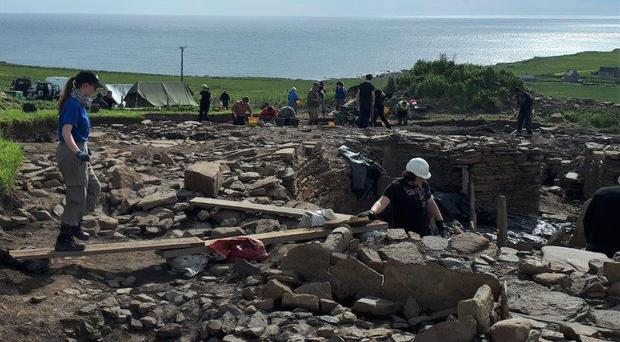 The Cairns excavation overlooking the North Sea (UHI/PA)