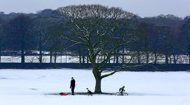 Snow and ice warnings have been issued across the country (Peter Byrne/PA)