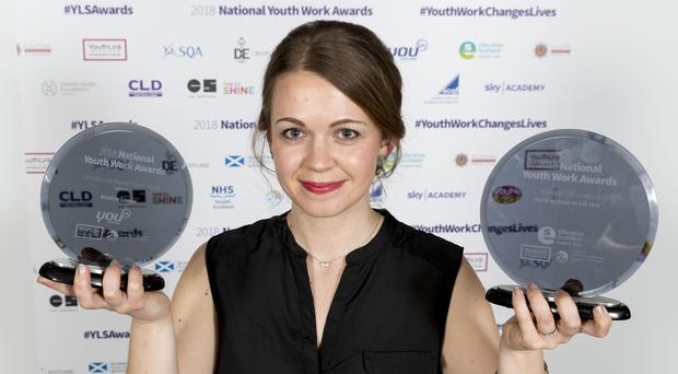 Matilda Lomas, Scotland's Youth Worker of the Year 2018 (Alan Rennie/YouthLink Scotland/PA)