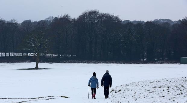 More snow is forecast this weekend (Peter Byrne/PA)
