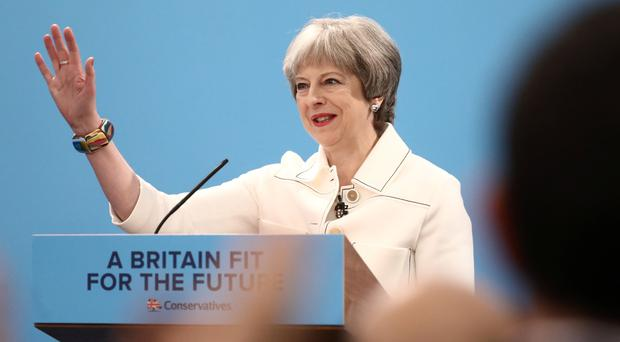 Prime Minister Theresa May makes a speech to the Conservative Spring Forum (Simon Dawson/PA)
