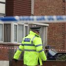 Police at the scene where two women were shot dead at a house in St Leonards, East Sussex (Gareth Fuller/PA)