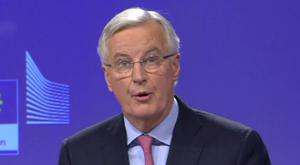 European Commission negotiator Michel Barnier speaking at a press conference in Brussels (European Commission/PA)