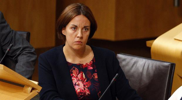 Kezia Dugdale MSP has criticised Work and Pensions Secretary Esther McVey over the so-called rape clause (Scottish Parliament/PA)