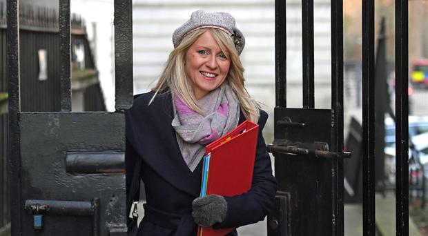 Work and Pensions Secretary Esther McVey (Stefan Rousseau/PA)